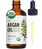 Argan Oil for Hair and Skin from Kate Blanc Cosmetics. 100% Pure, USDA Certified Organic, Coldpressed. Stimulate Growth for Dry and Damaged Hair. Skin Moisturizer. Nails Protector (Light 4oz)