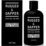 RUGGED & DAPPER Daily Power Scrub Face Wash + Exfoliating Facial Cleanser for Men | Organic & Non-Toxic Skincare - 8 Oz