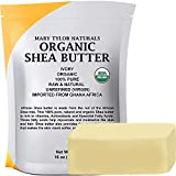 Organic Shea butter 1 lb — USDA Certified by Mary Tylor Naturals — Raw, Unrefined, Ivory From Ghana Africa — Amazing Skin Nourishment, Eczema, Stretch Marks and Body