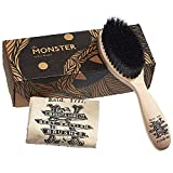 Kent BRD5 Men's Beard and Mustache Brush - Hand-Mixed Horsehair and Nylon Blend for Flawless Shaping and Grooming, Ergonomic Pistol-Like Grip Wood Handle, Dry or Wet Beard, Distributes Oils/Balms