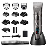 Hatteker Mens Beard Trimmer Cordless Hair Trimmer Hair Clipper Detail Trimmer 3 In 1 for Men Hair Cutting Kit Men's Grooming Kit Waterproof