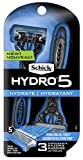 Schick Hydro 5 Disposable Razor for Men with Hydrating Gel Reservoir, 3 Count (Pack of 1)