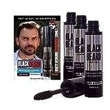 Blackbeard for Men - Instant Brush-On Beard & Mustache Color - 3-Pack (Dark Brown)