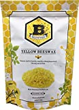 Beesworks Beeswax Pellets, Yellow, 1lb-Cosmetic Grade-Triple Filtered Beeswax.