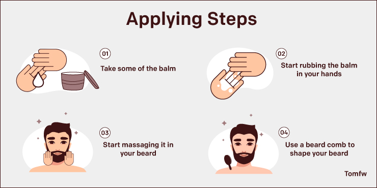 Beard Balm Applying Steps