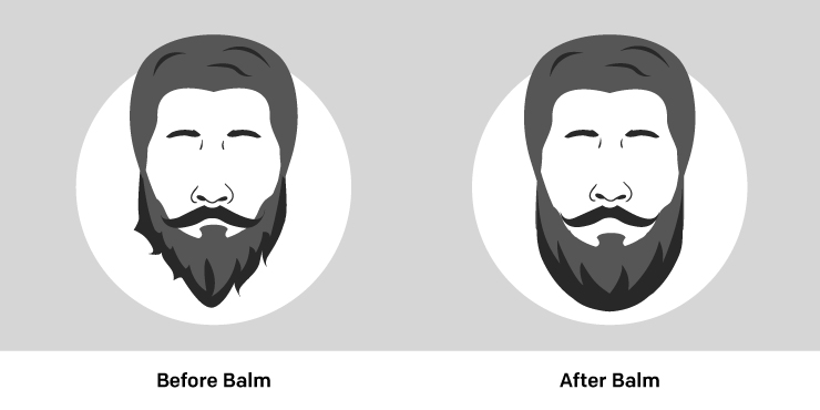 Difference after using Beard Balm
