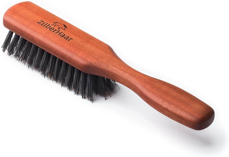 ZilberHaar Pure Boar Bristles and Pearwood Beard Brush