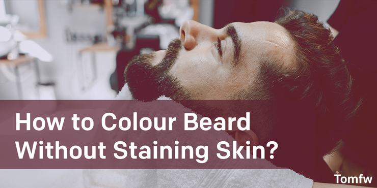 how to dye very short beard