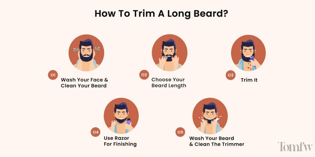 How to trim a long beard?