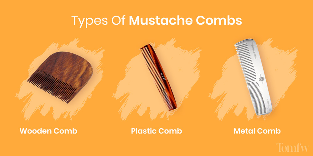 types of mustache combs