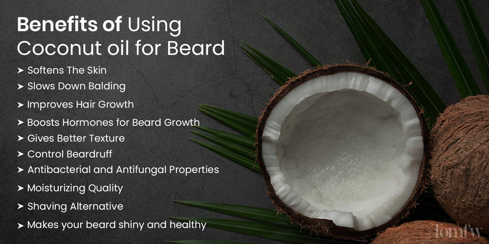 benefits fo using coconut oil for beard