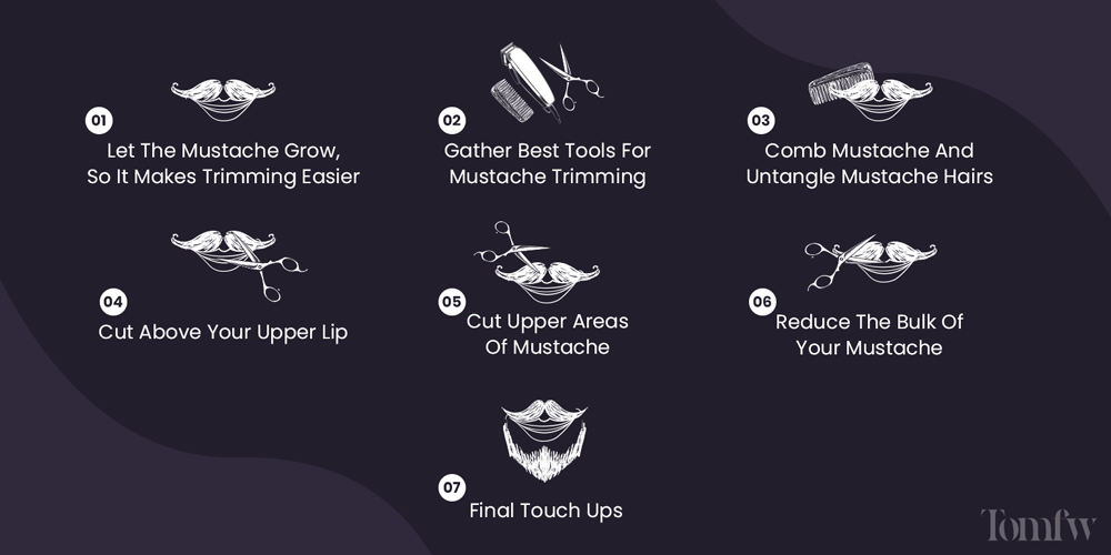 7 steps to trim mustache