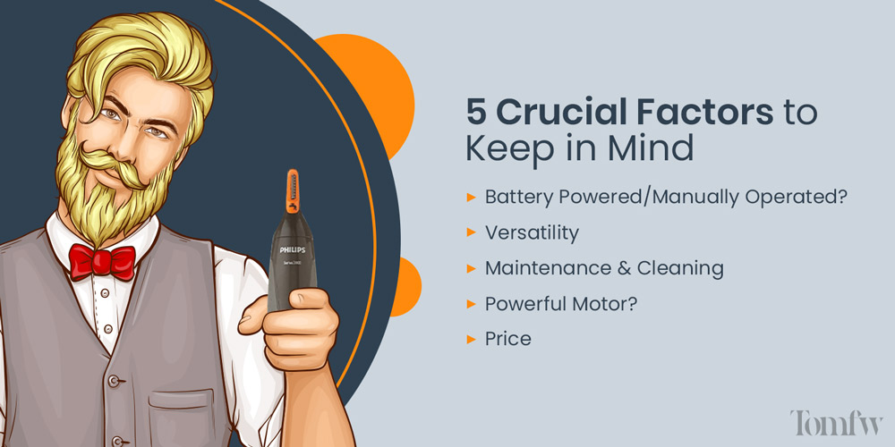 5 factors to consider before buying nose trimmer