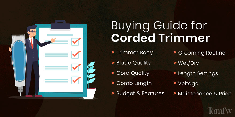 buying guide for corded beard trimmer