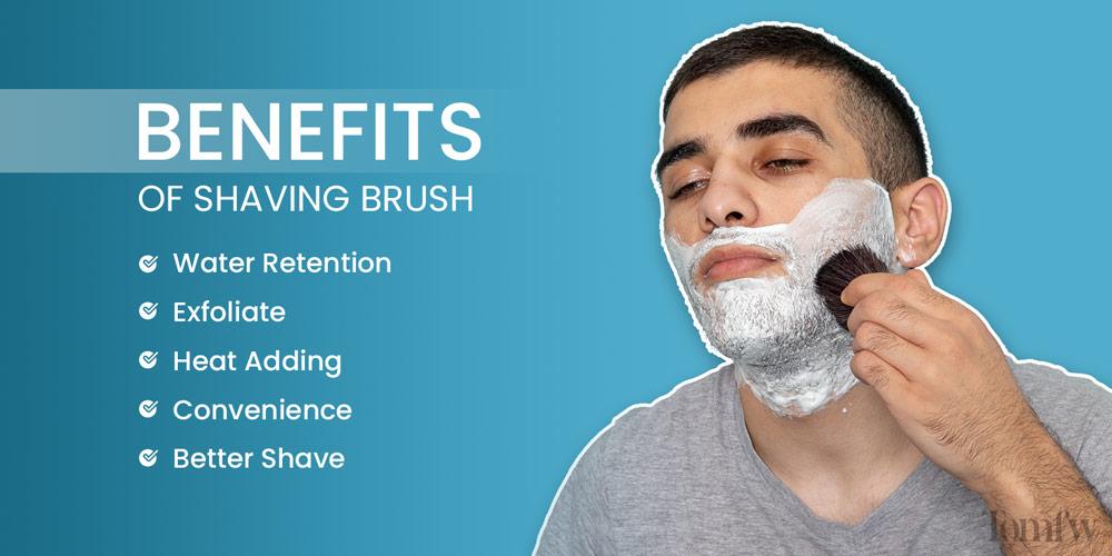 benefits of shaving brush