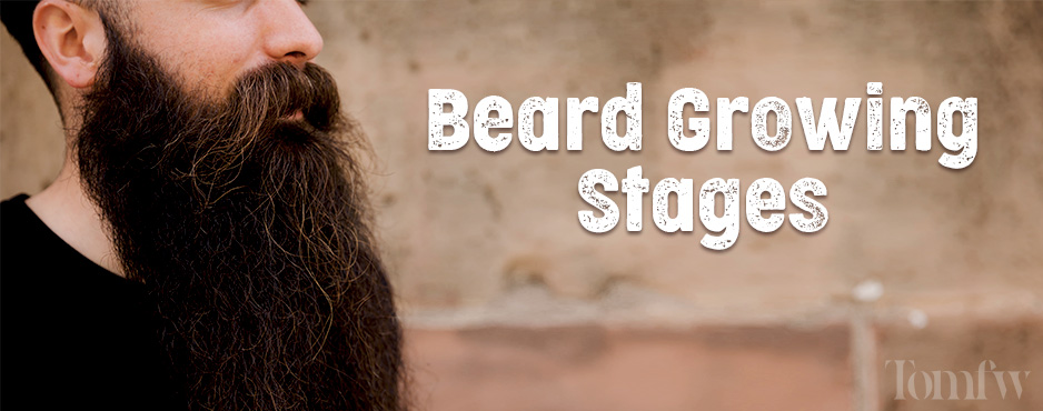 beard growth stages