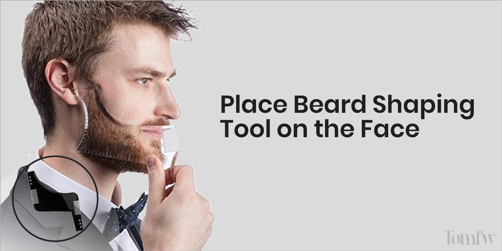 how to use a beard shaper