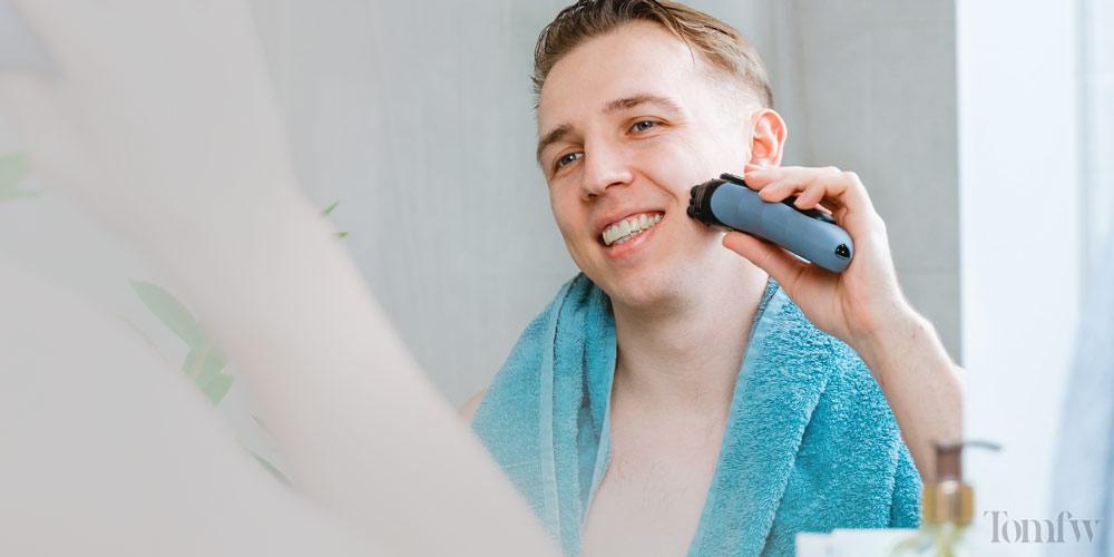 using an electric razor