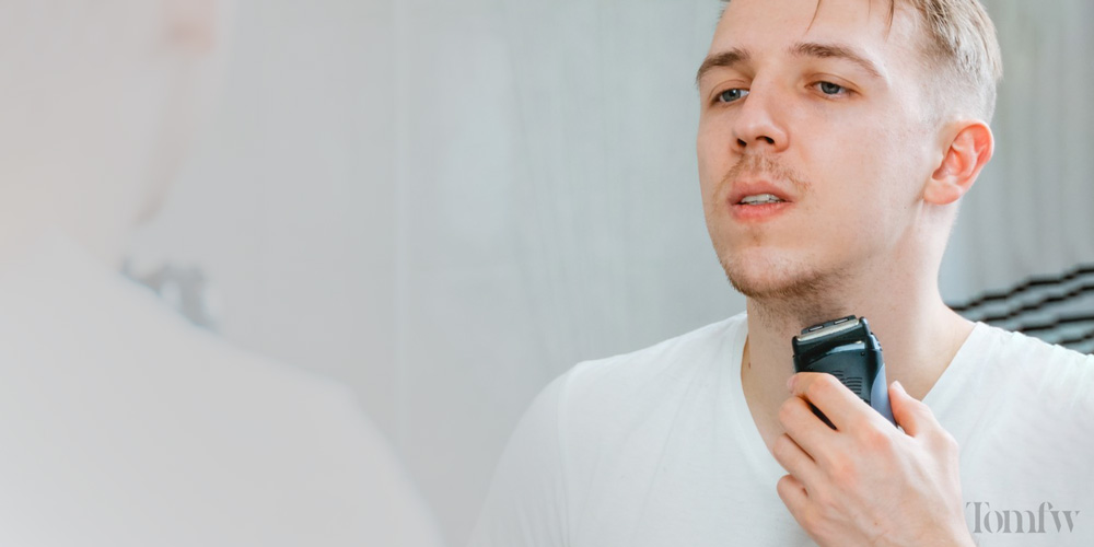 how to shave neckline