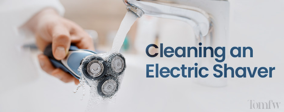 how to clean electric razor