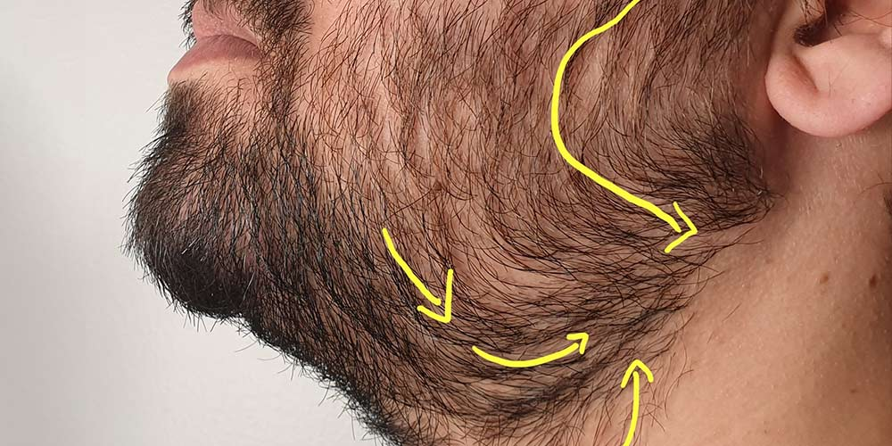 what is shaving with the grain