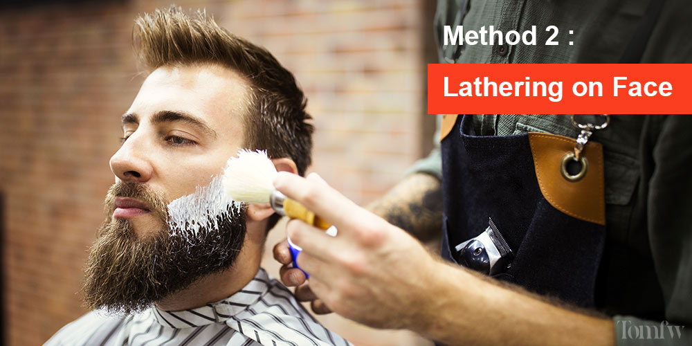 how to lather shaving soap in a mug